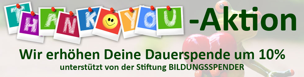 Thank-You-Spendenaktion